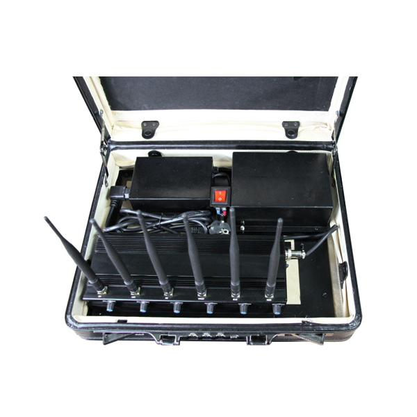 PCB-2066B Briefcase 6 Bands 4G Mobile Phone WiF GPS UHF VHF Jammer With Remote Control