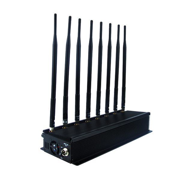 CPB-2080B Mobile Phone / WiFi / GPS L1 / L2 / L3/ L4/ L5/ VHF / UHF/ 4G Jammer 8 Bands with Car Charger Built-in Battery 2.0-2.5 Hours