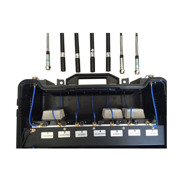 PCB-3077B 7 Bands Bulit-in Battery Mobile Phone Jammer