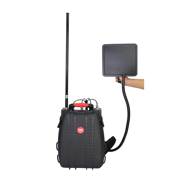 PCB-4075H-UAV Man Pack Anti-Drones UAV  Max 102W, 5 Bands,   1 - 2 Hours Built-in Battery 4 Bands in One Directional Antenna