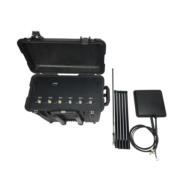 PCB-3076BH-UAV Anit-Drone UAV Jammer           6 Bands, Cover 100% Drones UAVs Four Bands in One Antenna Pelican 1440