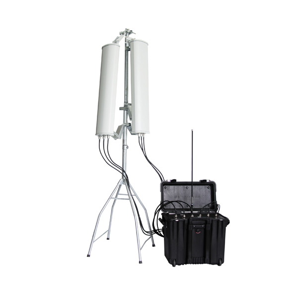 PDJ-3087B-HGA-433 Anti-Drone UAV 7 Bands Pelican 1440 2 x Higher Gain Directional Antennas Cover 180 Degrees, Built-in Battery