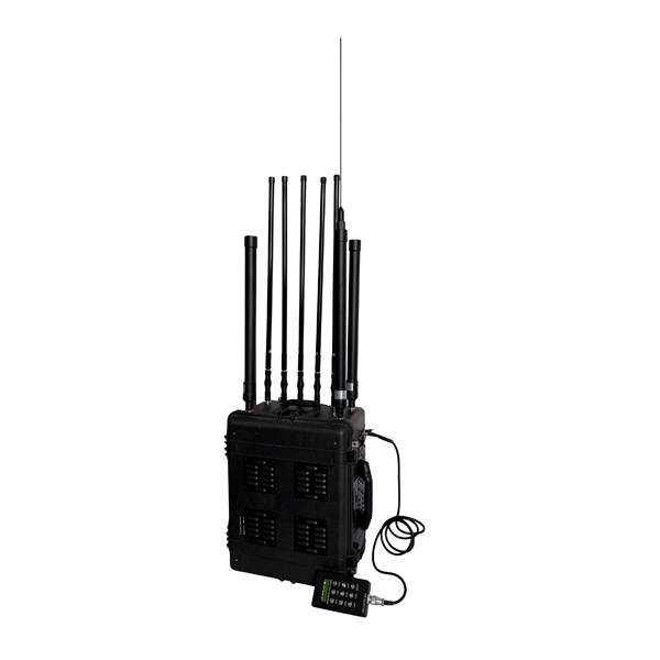 DDS-6068 Portable RCIED Mobile Phone Pelican Jammer, Direct Digital Synthesize Technology DDS   Max 800W 8 Bands, RJ485 Protocol