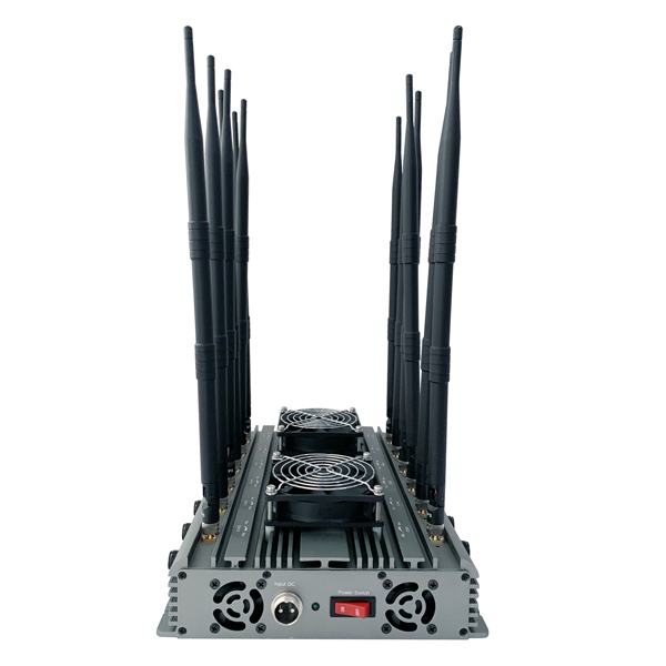CPB-2612H Series Mobile Phone / WiFi / GPS L1 / L2 / L3/ L4/ L5/ VHF / UHF/ 4G Jammer 12 Bands 8-10W Per Band Adjustable Output Power